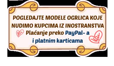 Isporuka širom sveta. Plaćanje preko PayPala ili kreditnim karticama. Kliknite ovde za modele.